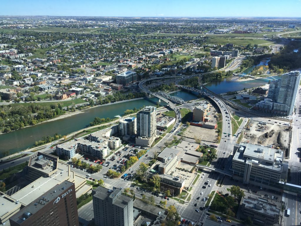 View looking over the Bow River.